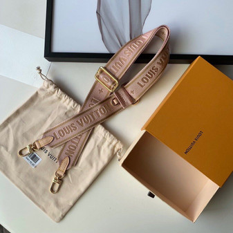 Louis Vuitton Adjustable Bag Strap Canvas Fall/Winter 2019 Collection M44840,  Rose Clair