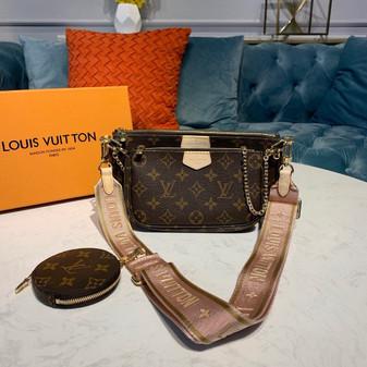 Louis Vuitton Multi Pochette Accessoires  Monogram Canvas Fall/Winter 2019 Collection M44840,  Rose Clair