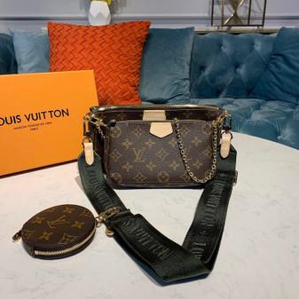 Louis Vuitton Multi Pochette Accessoires Bags  Monogram Canvas Fall/Winter 2019 Collection M44813,  Kaki