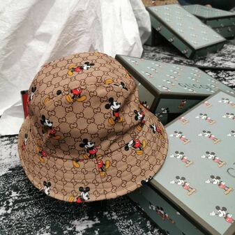 Gucci x Disney Mickey Mouse Bucket Hat Spring/Summer 2020 Collection, Brown