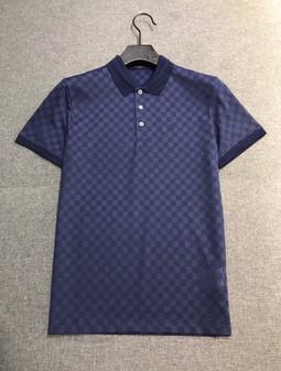 Louis Vuitton Damier Canvas Polo T-Shirt Spring/Summer 2020 Collection,  Navy Blue