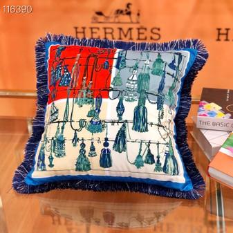 Hermes 45cm Throw Pillow 116390 , Blue/Multicolor
