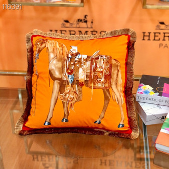Hermes 45cm Throw Pillow 116391 , Orange/Multicolor