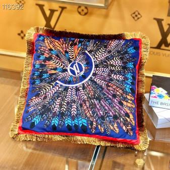 Louis Vuitton 45cm Throw Pillow 116392 , Black/Multicolor
