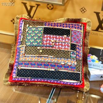 Louis Vuitton 45cm Throw Pillow 116393 , Black/Multicolor