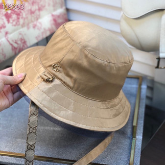 Gucci GG Logo Technical Fabric Bucket Hat Spring/Summer 2020 Collection,  Tan