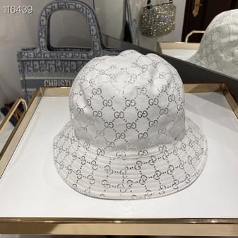 Gucci GG Logo Canvas Jacquard Bucket Hat Spring/Summer 2020 Collection, Silver