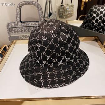 Gucci GG Logo Canvas Jacquard Bucket Hat Spring/Summer 2020 Collection, Black