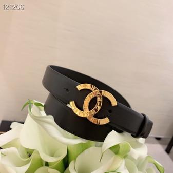 Chanel CC Logo Belt 121206 Spring/Summer 2020 Collection, Black