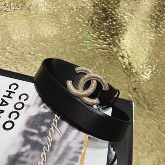 Chanel CC Logo Belt 121821 Spring/Summer 2020 Collection, Black