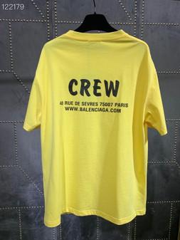 Balenciaga Crew Logo Oversized Cotton T-Shirt Fall/Winter 2020 Collection, Yellow