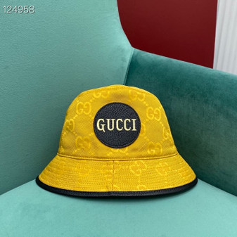 Gucci GG Logo Technical Fabric Bucket Hat Fall/Winter 2020 Collection,  Yellow