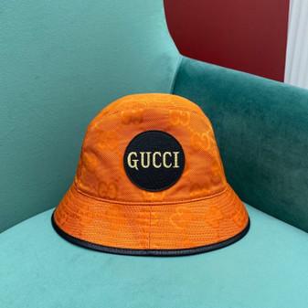 Gucci GG Logo Technical Fabric Bucket Hat Fall/Winter 2020 Collection,  Orange