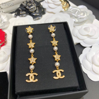 Chanel Chain Earrings Spring/Summer 2020 Collection 117458, Gold