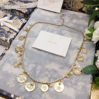 Christian Dior Necklace Fall/Winter 2020 Collection 136123, Gold