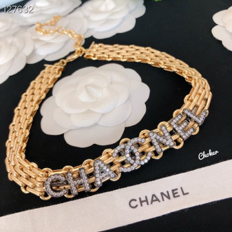 Chanel Crystal Embellished Choker Fall/Winter 2020 Collection 127632, Gold
