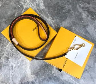 Louis Vuitton Baxter Leash Belt PM Gold Hardware Monogram Canvas Fall/Winter 2020 Collection M58055,  Brown