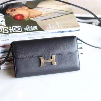 Hermes Constance To Go Bag 20cm Palladium Hardware Epsom Leather Fully Handstitched, Noir CK89