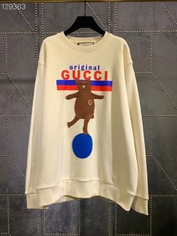Gucci Original Boutique Bear Motif Unisex Pullover Fall/Winter 2020 Collection, White