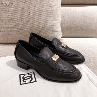 Chanel Leboy Loafers Calfskin Leather Fall/Winter 2020 Collection, Black