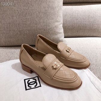 Chanel Leboy Loafers Calfskin Leather Fall/Winter 2020 Collection, Beige