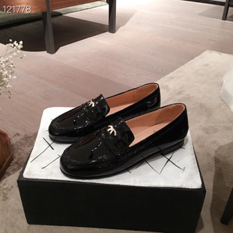 Chanel Loafers Patent Calfskin Leather Fall/Winter 2020  Collection, Black
