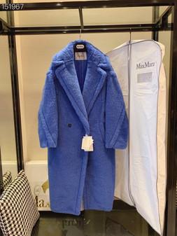 Max Mara Teddy Bear Wool Coat Fall/Winter 2020  Collection,  Electric Blue