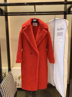 Max Mara Teddy Bear Wool Coat Fall/Winter 2020  Collection,  Red