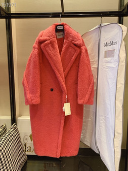 Max Mara Teddy Bear Wool Coat Fall/Winter 2020  Collection,  Rose Pink