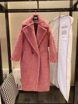 Max Mara Teddy Bear Wool Coat Fall/Winter 2020  Collection,  Pink