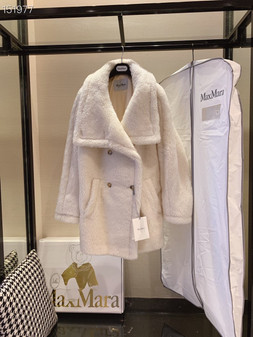 Max Mara  Teddy Bear Wool Mid-Length Coat Fall/Winter 2020  Collection,  White