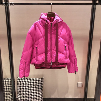Moncler Duvet Neuf Four Flake Down Mid-Length Coat Fall/Winter 2020  Collection, Hot Pink