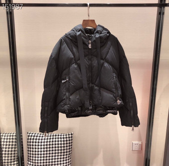 Moncler Duvet Neuf Four Flake Down Mid-Length  Coat Fall/Winter 2020  Collection, Black