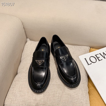 Prada Loafers Calfskin Leather Fall/Winter 2020  Collection, Black