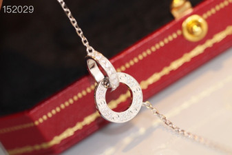Cartier Love Necklace, White Gold