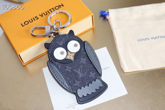 Louis Vuitton Owl Key Chain Bag Charm Monogram Eclipse Canvas Spring/Summer 2020 Collection M69482, Black