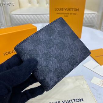 Louis Vuitton Slender ID Wallet 12cm Damier Graphite Canvas Spring/Summer 2020 Collection N64002, Black