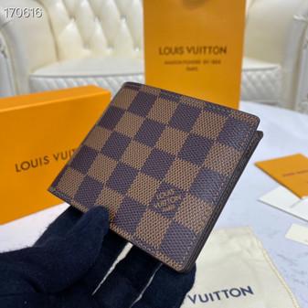 Louis Vuitton Slender ID Wallet 12cm Damier Ebene Canvas Spring/Summer 2020 Collection N64002, Brown