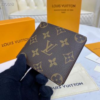 Louis Vuitton Slender ID Wallet 12cm Monogram Canvas Spring/Summer 2020 Collection M62293, Brown