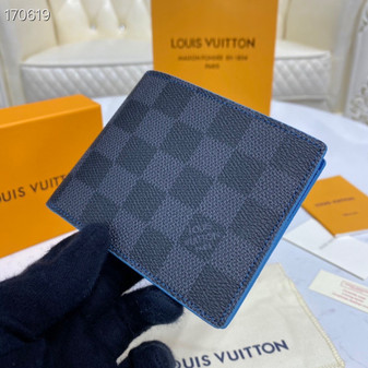 Louis Vuitton Slender ID Wallet 12cm Damier Graphite Canvas Spring/Summer 2020 Collection N64033, Black/Blue