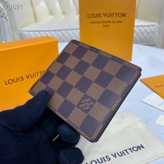 Louis Vuitton Slender Wallet 12cm Damier Ebene Canvas Spring/Summer 2020 Collection N64002, Brown