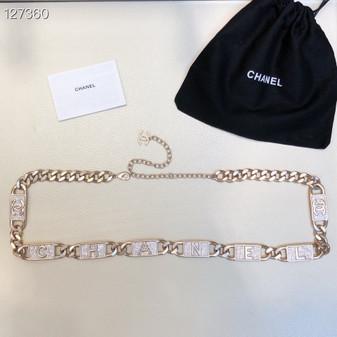 Chanel Logo Crystal Embellished Chain Link Waist Belt Rose Gold Hardware Fall/Winter 2020 Collection, Rose Gold