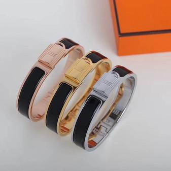Hermes Clic Anneau Bracelet, Black