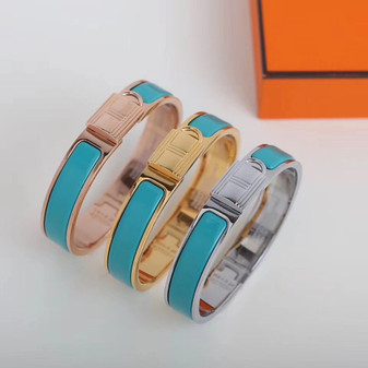 Hermes Clic Anneau Bracelet, Turquoise