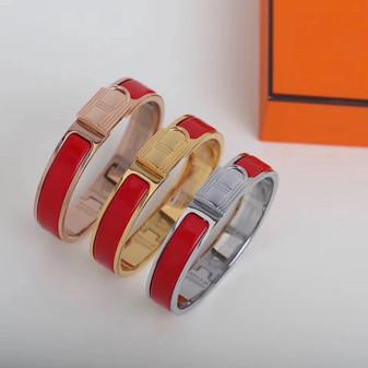 Hermes Clic Anneau Bracelet, Rouge Bandana