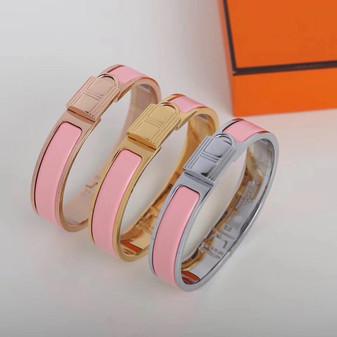Hermes Clic Anneau Bracelet, Rose Sakura