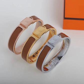 Hermes Clic Anneau Bracelet, Caramel