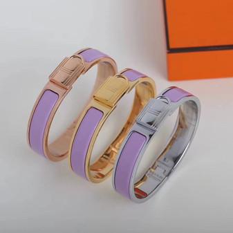 Hermes Clic Anneau Bracelet, Lilas