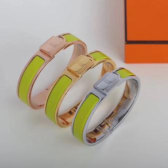 Hermes Clic Anneau Bracelet, Apple Green
