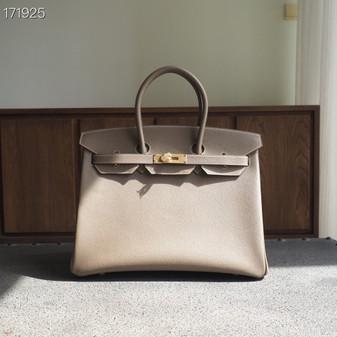 Hermes Birkin Bag 35cm Epsom Leather Fully Handstitched, Etoupe CK18